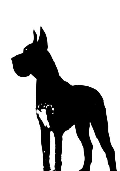 424x600 Great Dane Dog Silhouette Art Print By Ialbert Society6