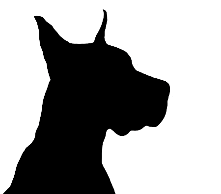 450x394 Dog Silhouette Head Of Big Dog.png