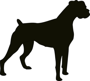 298x267 Boxer Silhouette Clip Art