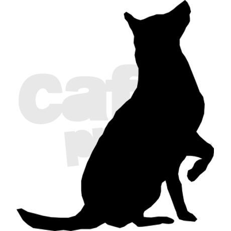 460x460 Sitting Dog Silhouette Clip Art