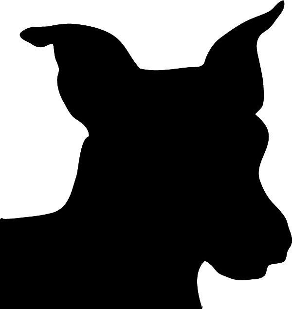 Dog Silhouette Clip Art Black And White