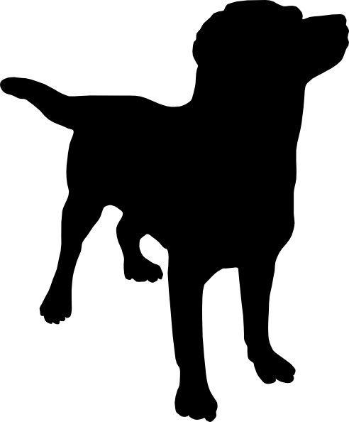 492x594 Labrador Silhouette Clip Art Dog Silhouette Clip Art