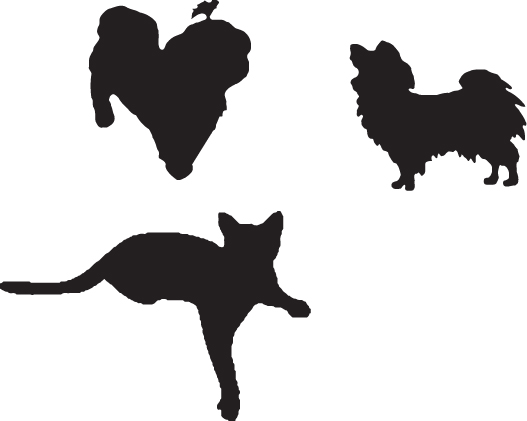 527x421 Cat And Dog Silhouette Clip Art