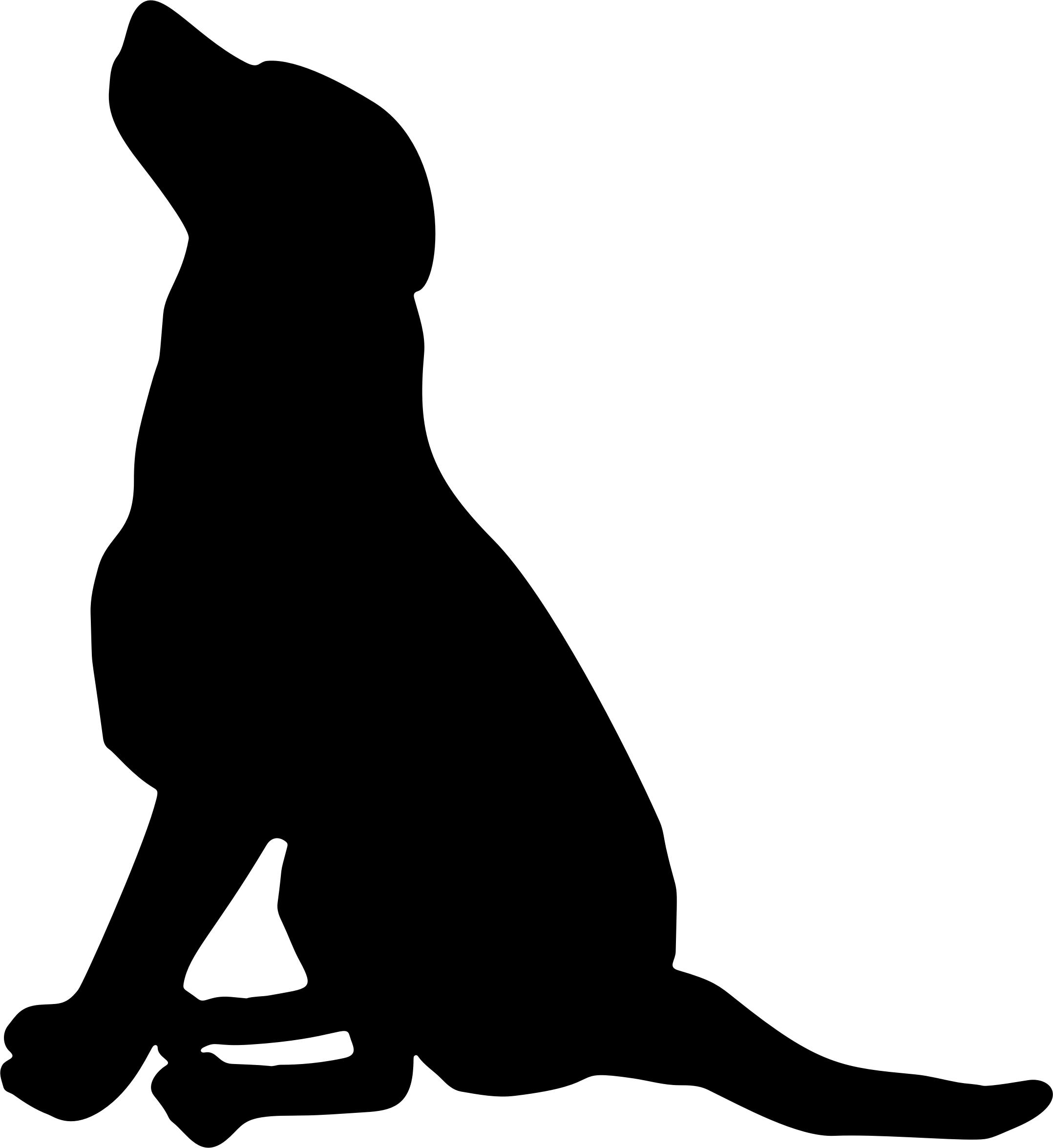 2156x2352 Sitting Dog Silhouette Icons Png