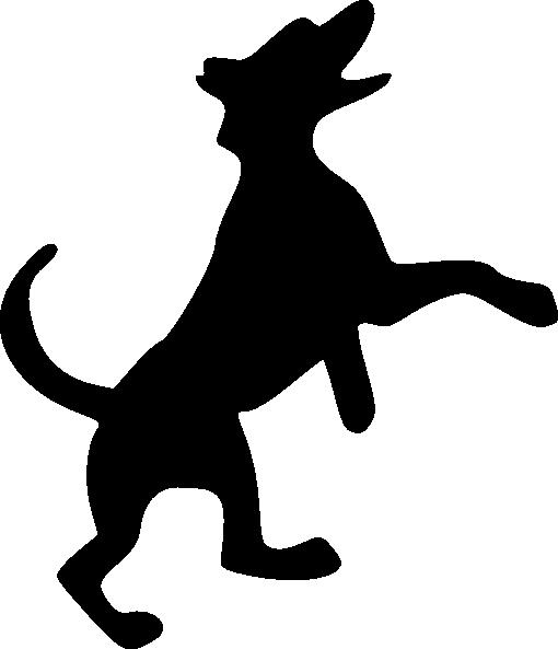 510x593 Dog Silhouette Clip Art