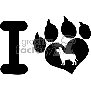 300x300 Royalty Free 10711 Royalty Free Rf Clipart I Love With Black Heart