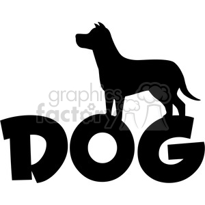 300x300 Royalty Free Royalty Free Rf Clipart Illustration Dog Silhouette