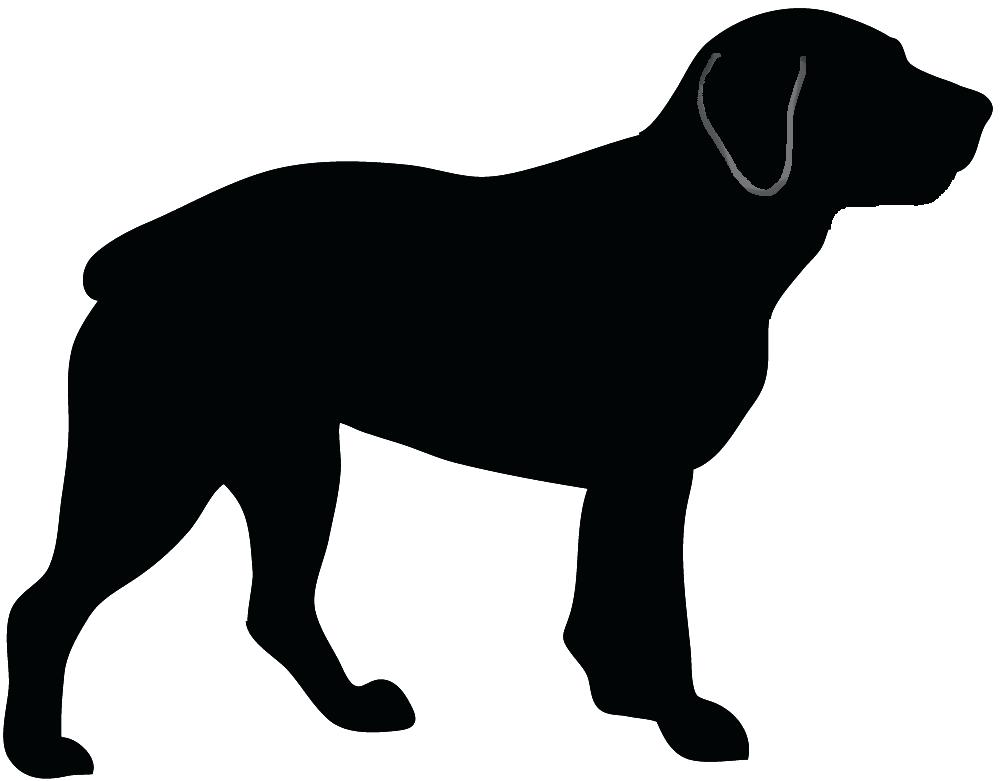 1000x781 Dog Outline Drawing At Free For Personal Use Dog Dog Outlines
