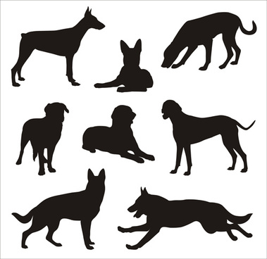 379x368 Vector Dog Silhouettes Free Vector Download (6,067 Free Vector