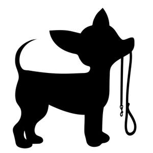 300x300 Chihuahua Dog Silhouette ClipArt