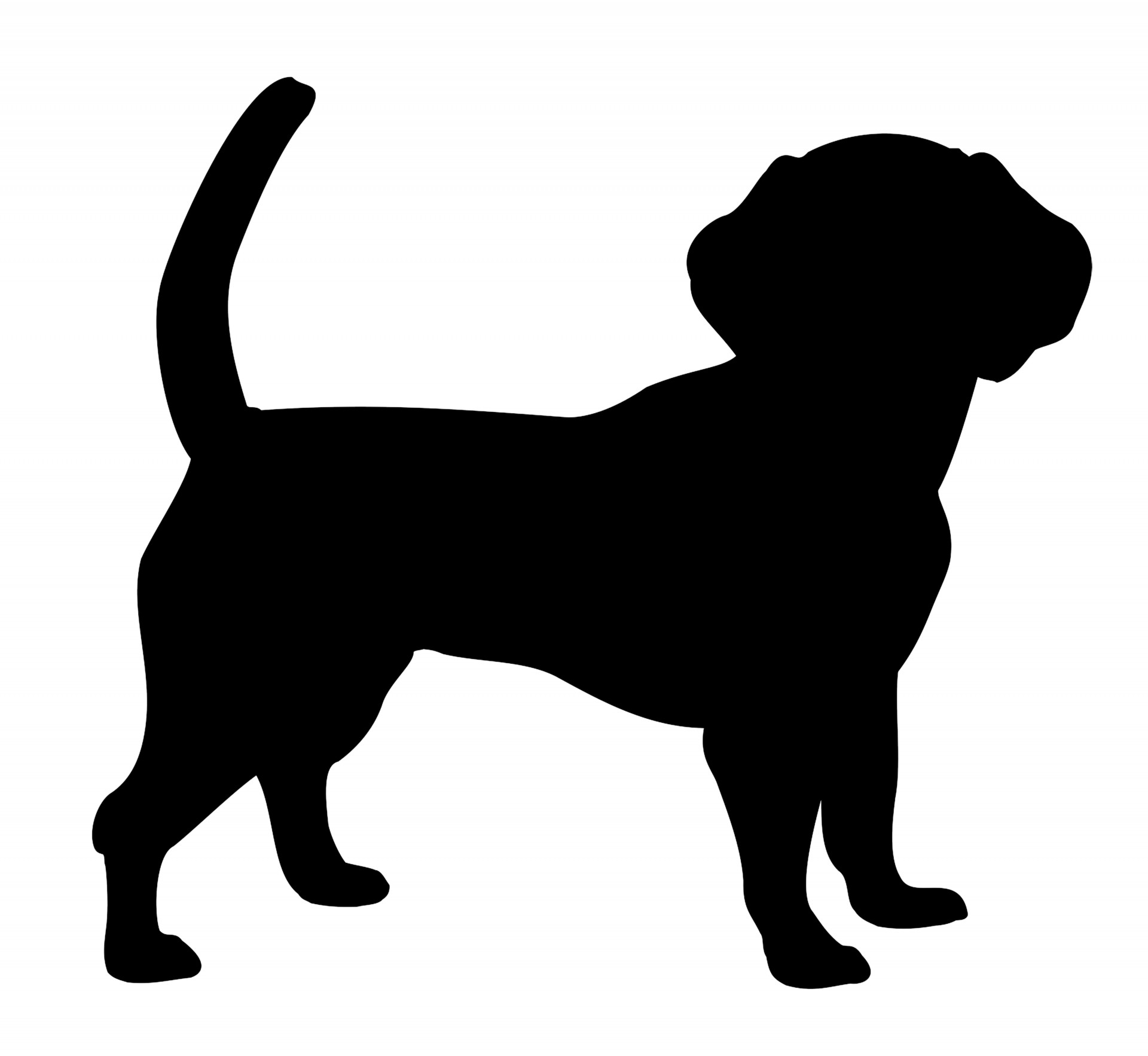 1920x1766 Dog Silhouette Free Stock Photo