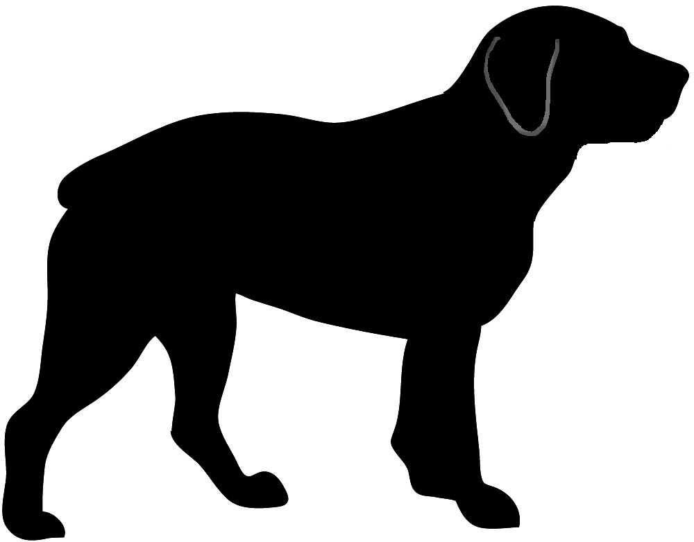 1000x781 Dog Outline Dog Silhouette