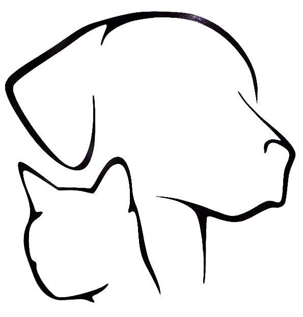 595x621 Dog Cat Lover Pet Silhouette Cool Car Truck Window Vinyl Decal
