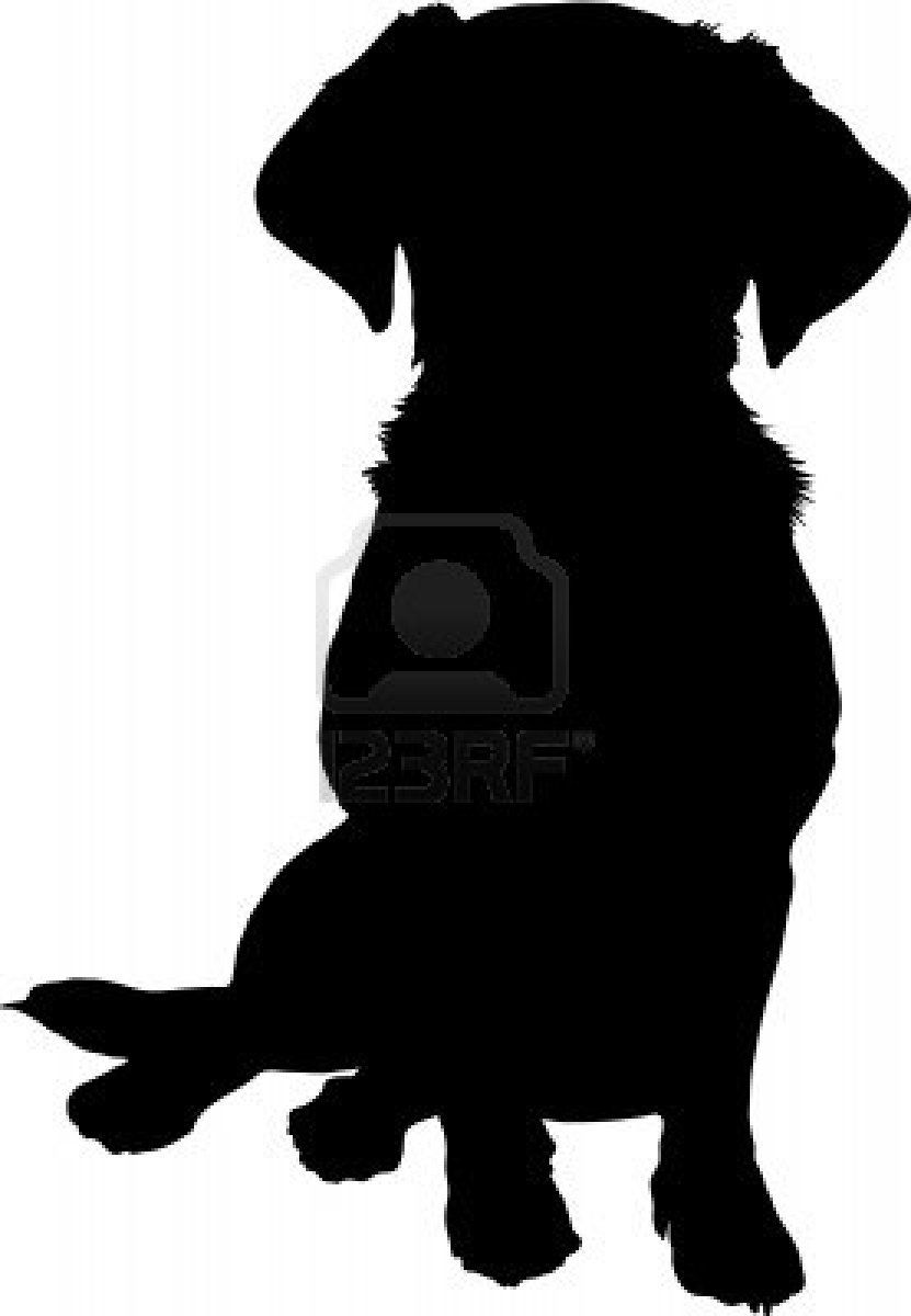 Dog Silhouette Sitting