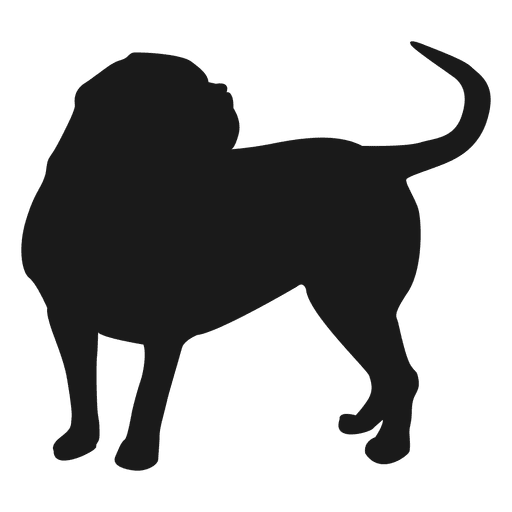 512x512 Dog Silhouette 3