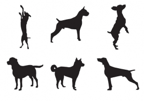 285x200 Dog Silhouette Free Vector Graphic Art Free Download (Found 11,854
