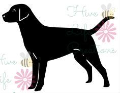 236x184 Labrador Retriever Instant Download Lab Dog Silhouette Svg