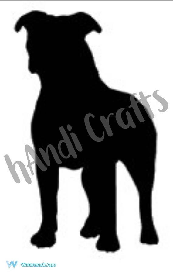 570x908 Pitbull Dog Silhouette Svg Design File Silhouette Cameo Cricut