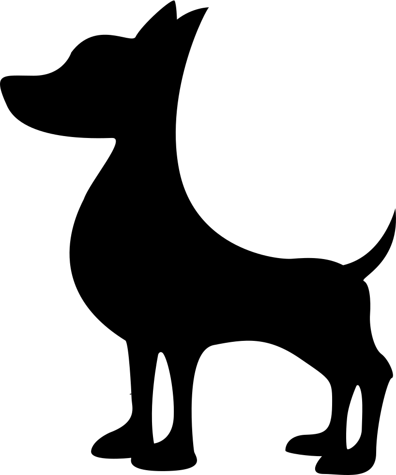 818x981 Black Dog Silhouette Svg Png Icon Free Download ( 74300