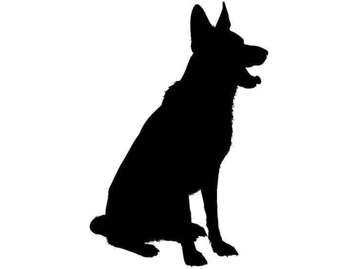 736x552 German Shepherd Dog Breed Silhouette Custom Made Vinyl Decal