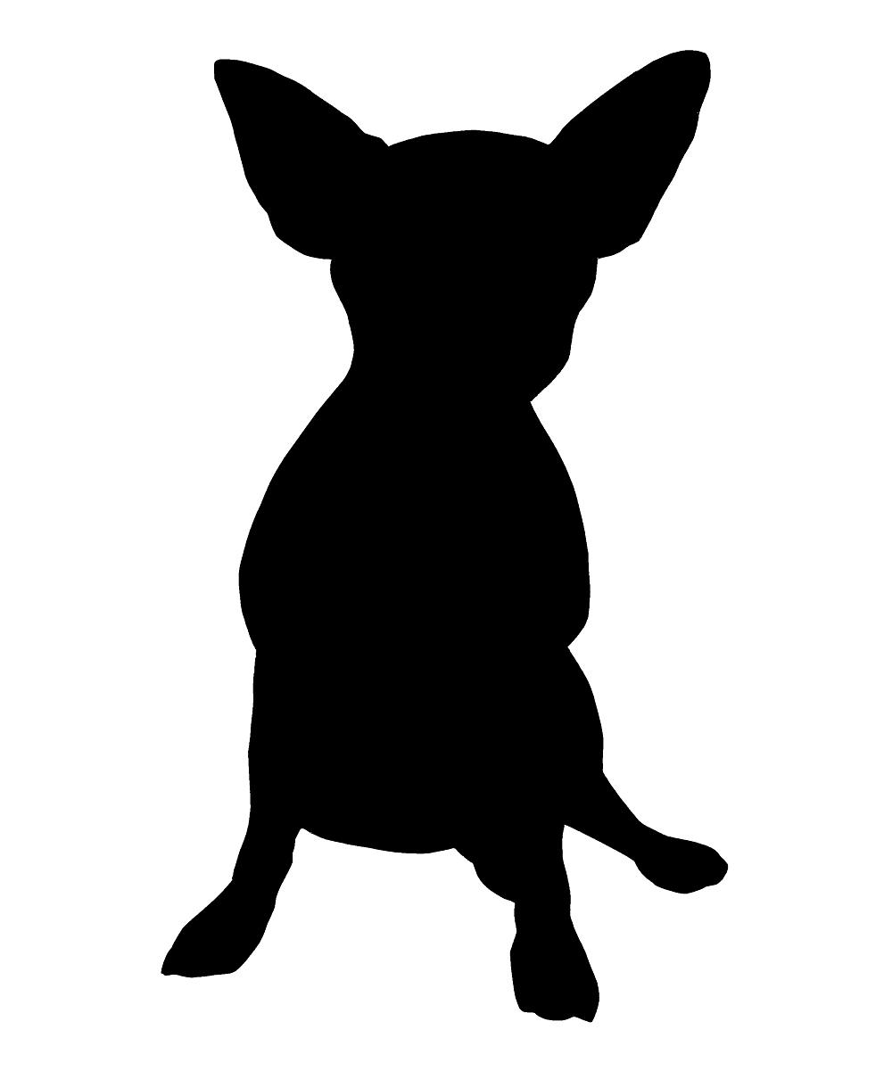 1000x1201 Steadfast Friends Black Sitting Chihuahua Temporary Tattoo