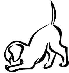 236x252 Dog Outline Tattoo