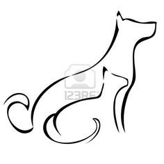 236x236 Dog Tattoo Outline