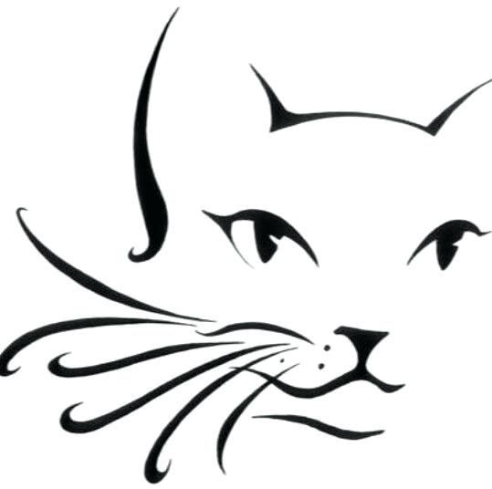539x536 Cat Outline Tattoo Designs The Body Is A C A N V A S Cat Outline