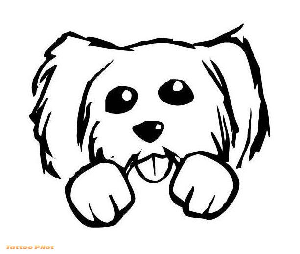 613x518 Collection Of Cat Dog Tattoo Design