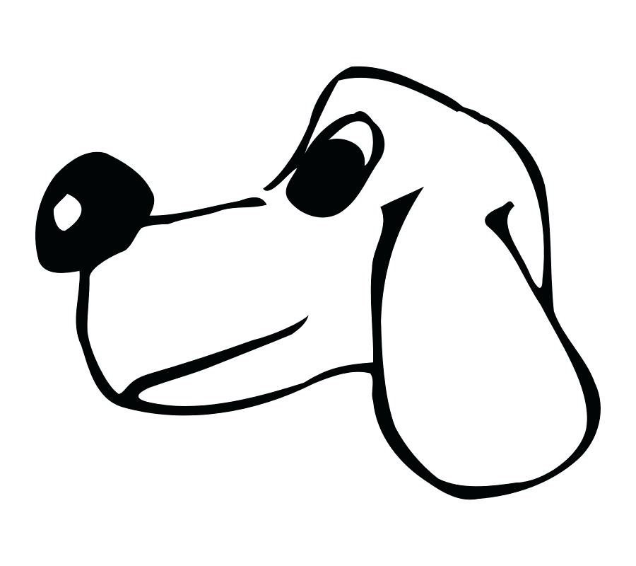 900x800 Dog Face Outline Vector Of A Puppy Face On White Background Dog