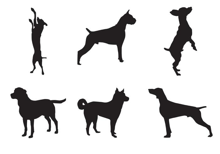 700x490 Dog Silhouette Vectors
