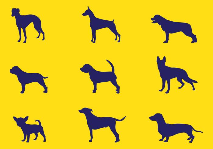 700x490 Dog Silhouettes