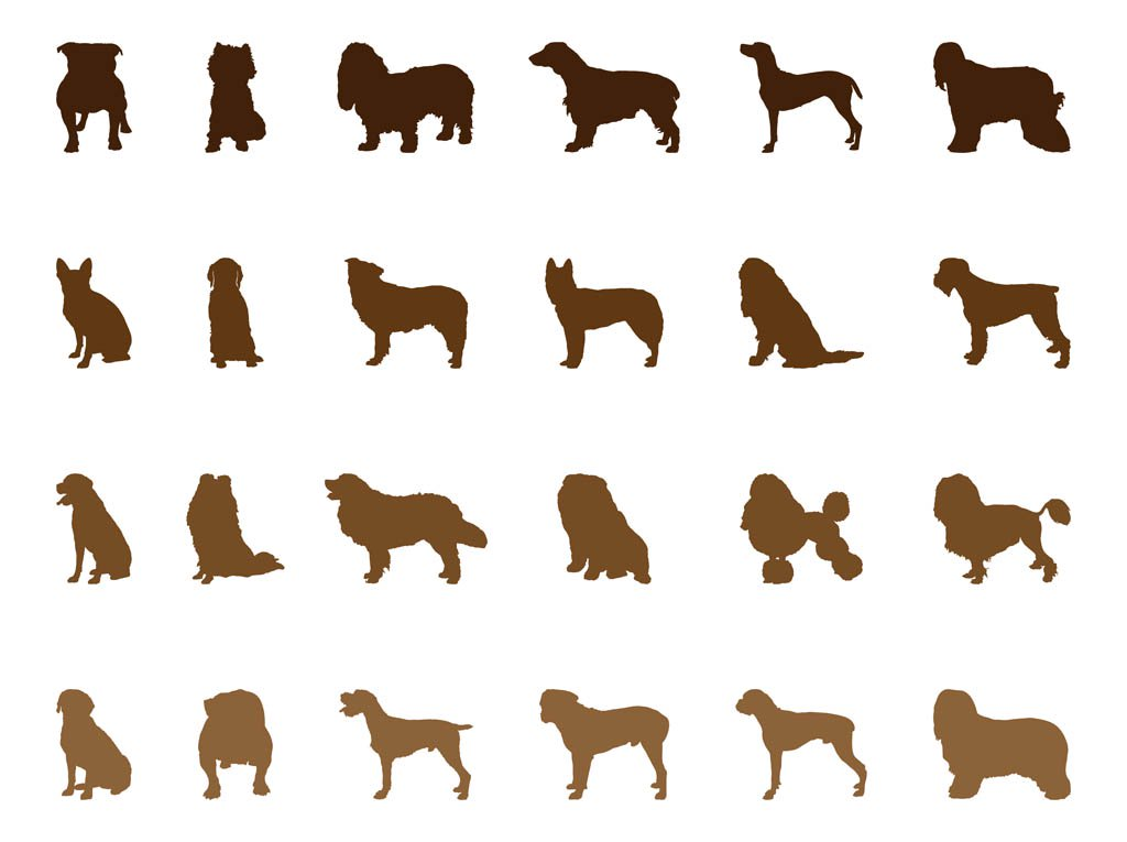 1024x765 Dog Silhouettes Set Vector Art Amp Graphics