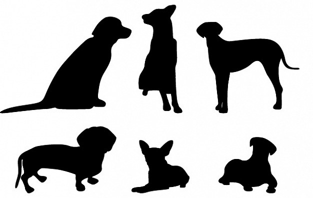 626x396 13 Dog Vector Silhouettes Vector Free Download