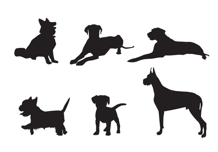 700x490 Free Vector Dog Silhouette Vectors