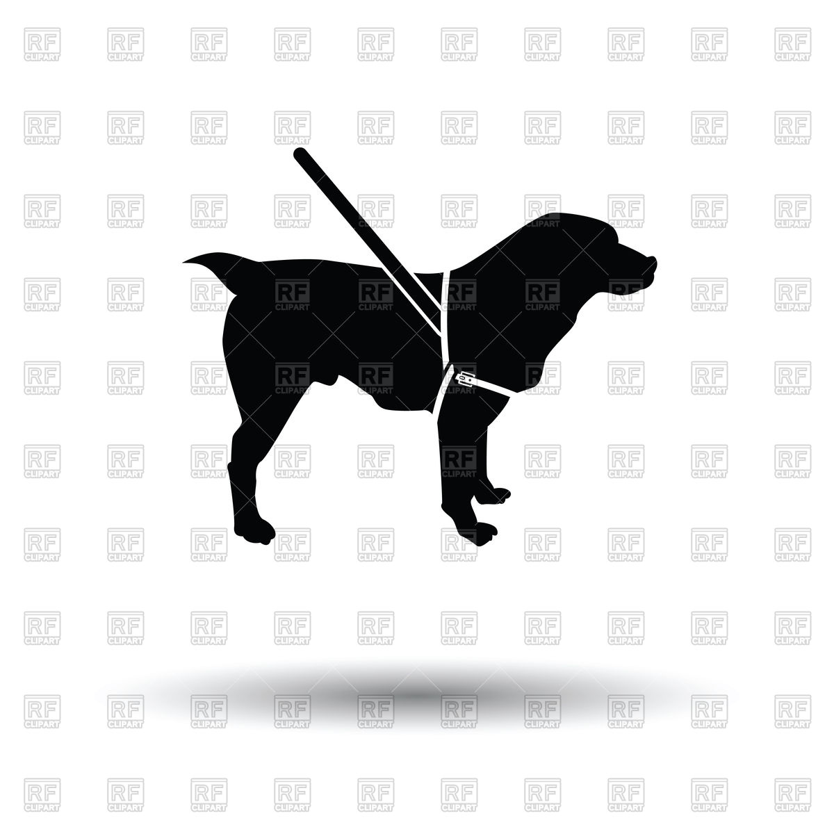 1200x1200 Guide Dog Silhouette Royalty Free Vector Clip Art Image