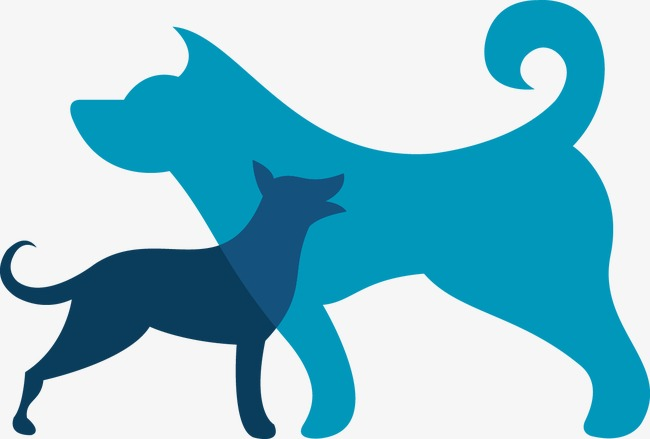 650x439 Color Pet Dog Silhouettes Vector, Color, Pet Dog, Sketch Png