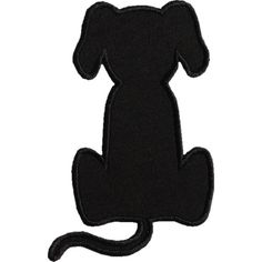 236x236 Dog Applique Designs Sitting Dog Silhouette Applique Design