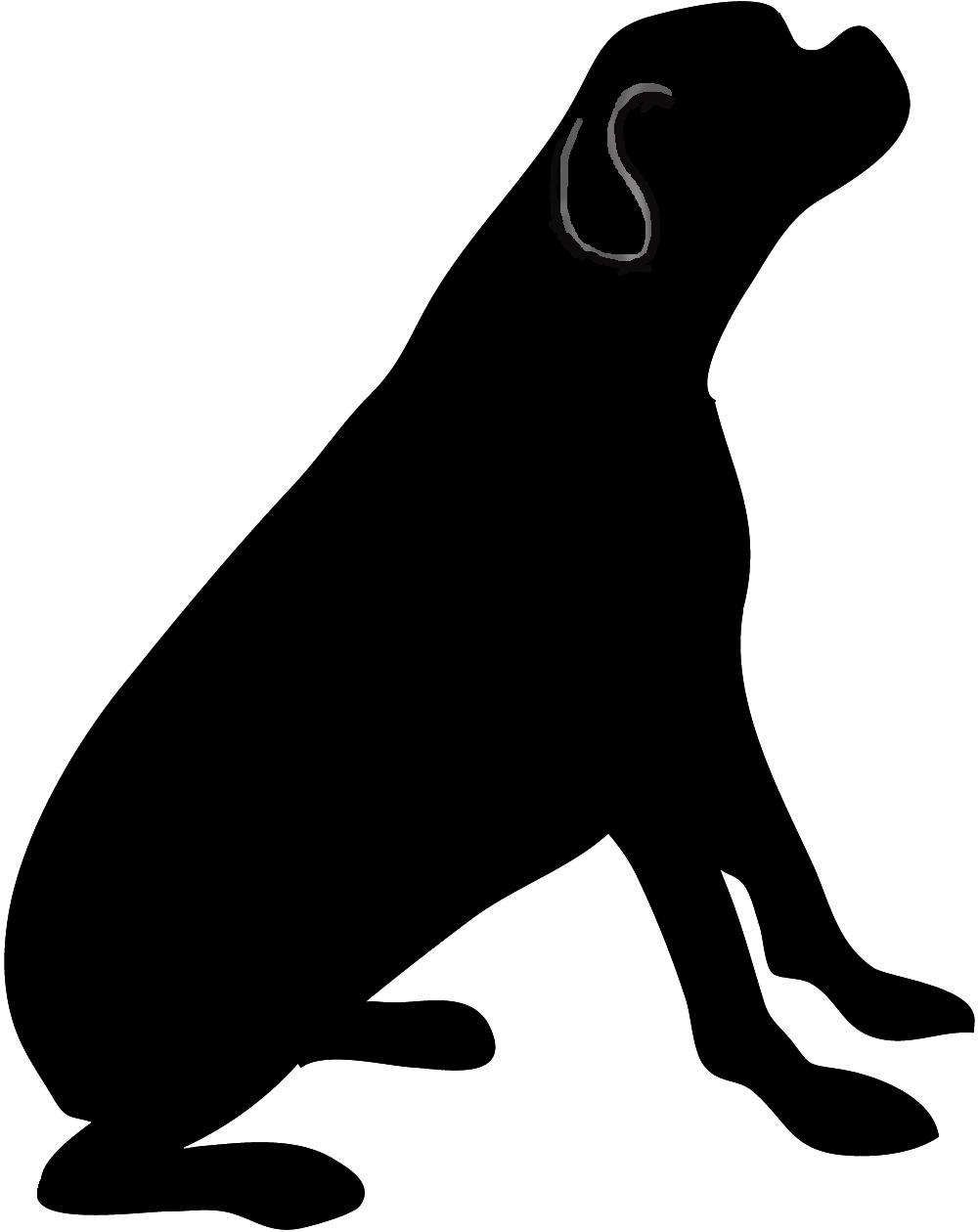 1000x1260 Clip Art Dog Clip Art Silhouette