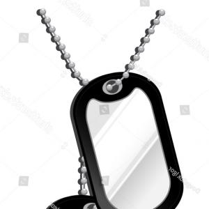 300x300 Photostock Vector Dog Tags With Chain Icon Isolated On Transparent