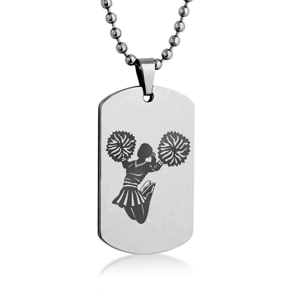1000x1000 Silhouette Engrave Dog Tag Necklace Pendant With Stainless Steel