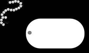 299x180 Dog Tag Grey Clip Art