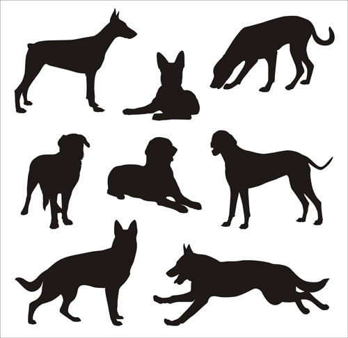500x486 Hound Dog Silhouette Free Vector Download (6,072 Free Vector)