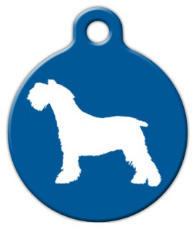 275x322 Tag Art Miniature Schnauzer Silhouette Pet Id Tag