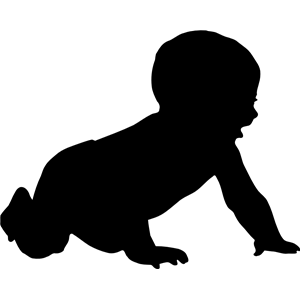 300x300 Baby Silhouette Clipart, Cliparts Of Baby Silhouette Free Download