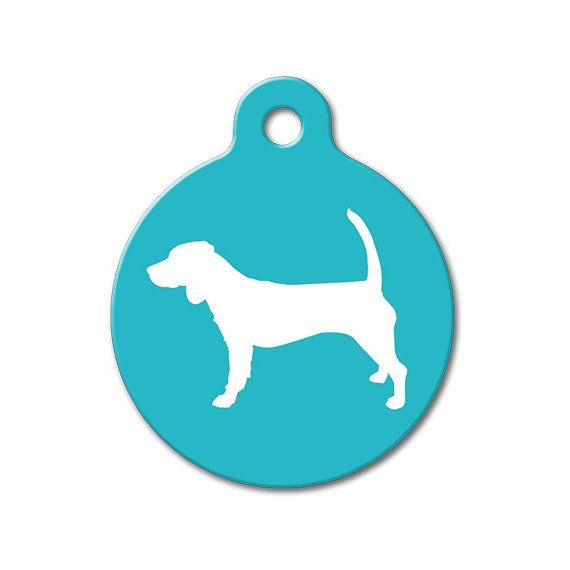 570x570 Beagle Modern Dog Silhouette Pet Tags Personalized By Wagavenue