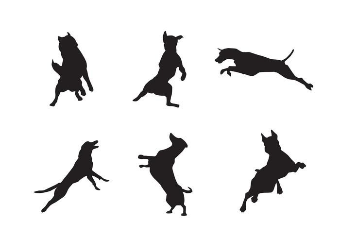700x490 Free Jumping Dog Silhouette Vectors