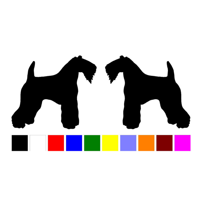 640x640 Hotmeini Car Stickers15cm 2 Kerry Blue Terrier Dog Breed Home Car