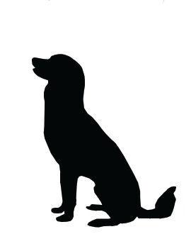 270x330 Silhouette Clip Art Large Dog Sitting