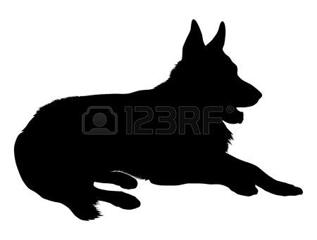 450x342 German Shepherd Silhouette German Shepherd German